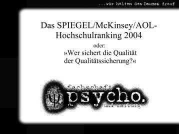Präsentation zum Vortrag - Philipps-Universität Marburg