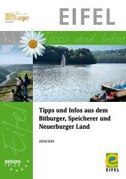 Tipps und Infos aus dem Bitburger, Speicherer und Neuerburger Land