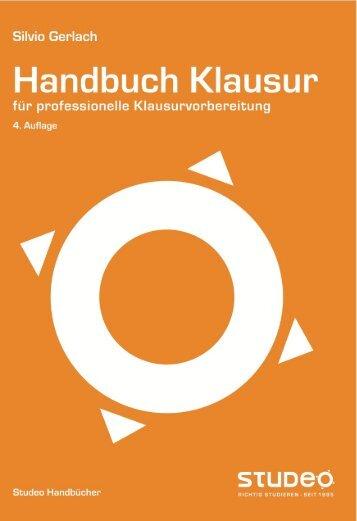 Handbuch KLAUSUR - Studeo