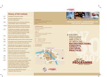 History of the Institute - Johannes Gutenberg-Universität Mainz