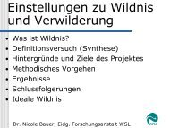 Einstellungen zu Wildnis und Verwilderung - Erste Ergebnisse einer ...
