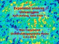 Expansion unseres Universums