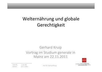 Folien zum Vortrag von Prof. Dr. Gerhard Kruip ... - Studium generale