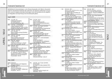 Terminübersicht für das SoSe 2009 als PDF-Datei - Studium generale