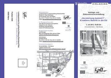 Detailliertes Programm als PDF-Datei - Johannes Gutenberg ...
