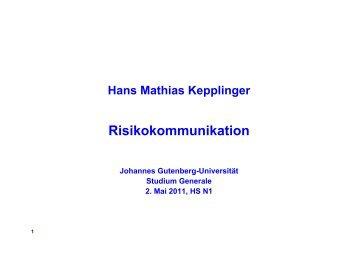 Risikokommunikation - Studium generale