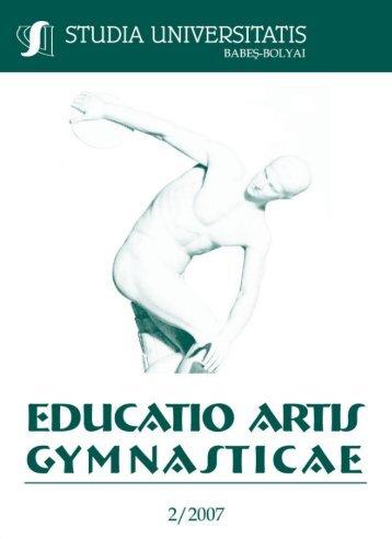 studia universitatis babeş-bolyai educatio artis gymnasticae 2