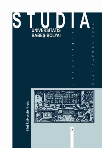 studia universitatis babeş-bolyai sociologia 2