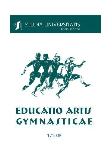 EDUCATIO ARTIS GYMNASTICAE - Studia