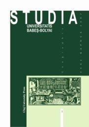studia universitatis babeş – bolyai geographia 1