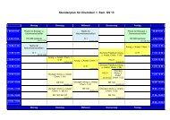 Stundenplan 1. Semester SS 13