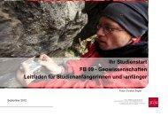 Ihr Studienstart FB 09 - Geowissenschaften Leitfaden für ...
