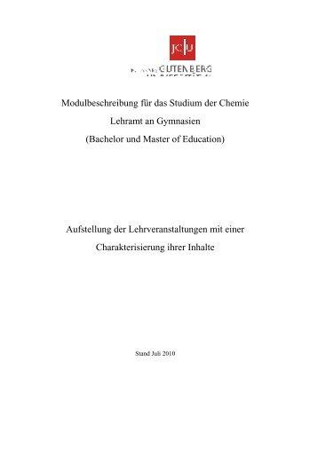 Modulbeschreibung - Studienbüros des Fachbereiches 09 ...