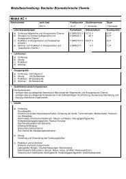 Modulbeschreibungen B. Sc. Biomed. Chemie