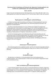 Verordnung über die Ausbildung und Prüfung für den allgemeinen ...
