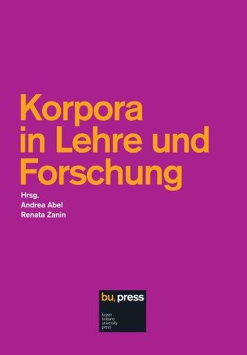 Korpora in Lehre und Forschung - EURAC