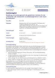 Seminarangebot Bestellung und Vertretungsmacht des gesetzlichen ...