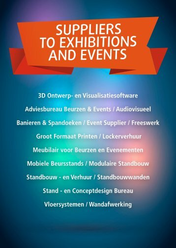 SUPPLIERS TO EXHIBITIONS AND EVENTS