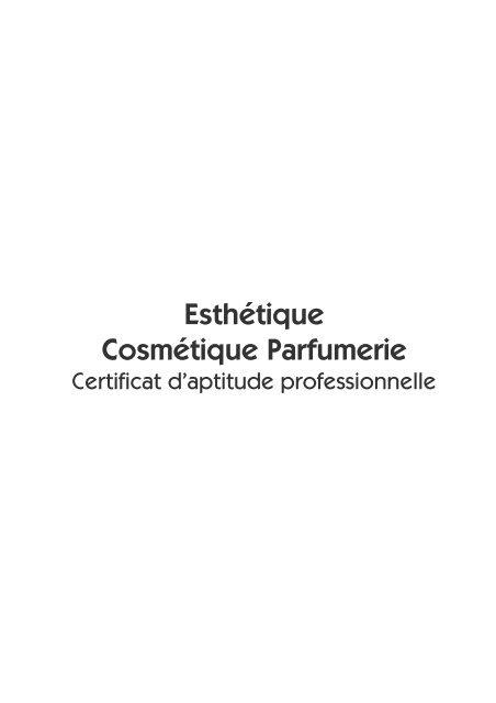 Esthétique Cosmétique Parfumerie - CNDP