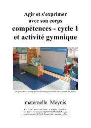 compétences - cycle 1 et activité gymnique