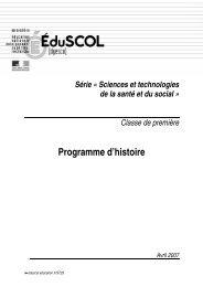 Programme d'histoire