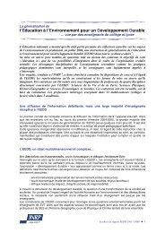 Synthèse du rapport d'enquête EEDD - Acces