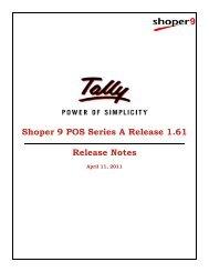 Shoper 9 POS Series A Release 1.61 Release Notes - Tally