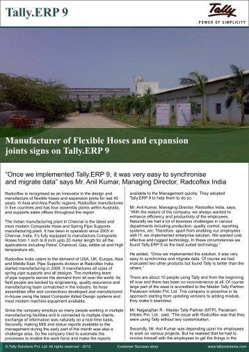 Radco Flex India - Tally