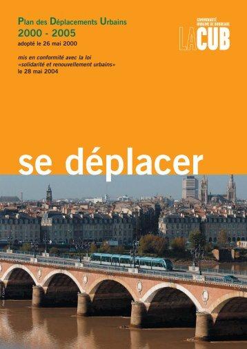 Plan des Déplacements Urbains - Participation de la CUB et de ses ...