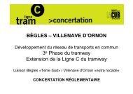 BÈGLES – VILLENAVE D'ORNON 3e Phase du tramway Extension ...