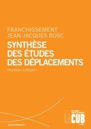 synthèse des études des déplacements - Participation de la CUB et ...