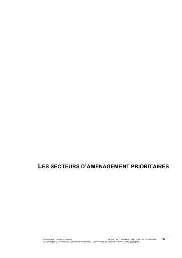 Secteurs Prioritaires - Participation de la CUB et de ses communes ...