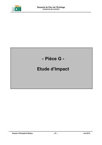 - Pièce G - Etude d'Impact - Participation de la CUB et de ses ...