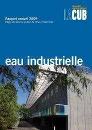Rapport annuel 2009 - Participation de la CUB et de ses communes ...