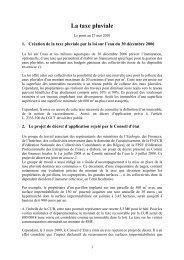 Groupes de travail projet - Participation de la CUB et de ses ...