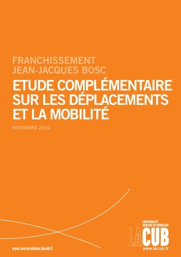 etude complémentaire sur les déplacements et la mobilité