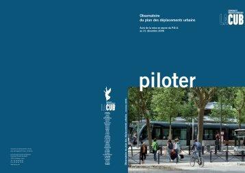 Observatoire du plan des déplacements urbains - Participation de la ...