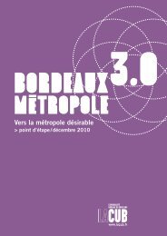 Bordeaux Métropole 3.0 - Participation de la CUB et de ses ...