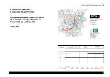 Sommaire - Participation de la CUB et de ses communes - La CUB