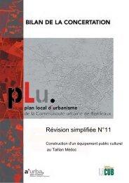 bilan concertation Battesti 1ere partie - Participation de la CUB et de ...