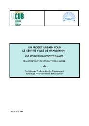 un projet urbain pour le centre ville de gradignan - Participation de ...