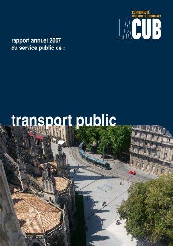 transport public - Participation de la CUB et de ses communes - Cub