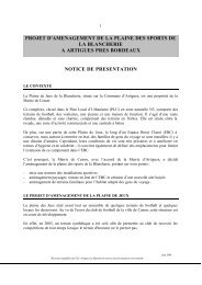 notice présentation - Participation de la CUB et de ses communes
