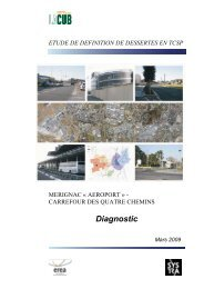 Diagnostic - Participation de la CUB et de ses communes - Cub