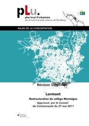 Bilan concertation Mrignac - projet de conservatoire Peychotte