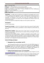 compte rendu CPC3 301109 - Participation de la CUB et de ses ...