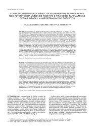 comportamento geoquímico dos elementos terras raras nos alteritos ...