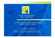 Société des Autoroutes Paris - Normandie LA POLITIQUE ... - Arehn