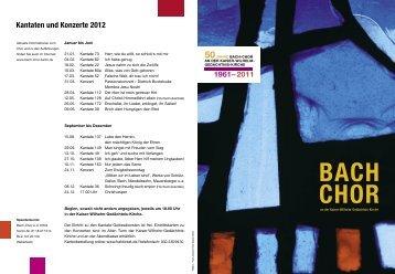 Bach-Chor an der Kaiser-Wilhelm-Gedächtnis-Kirche