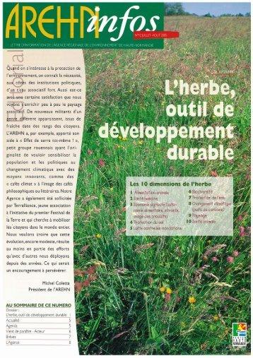 L'herbe, outil de développement durable - Arehn